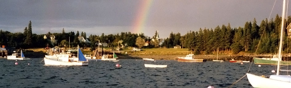 Rainbow over Maine Harbor